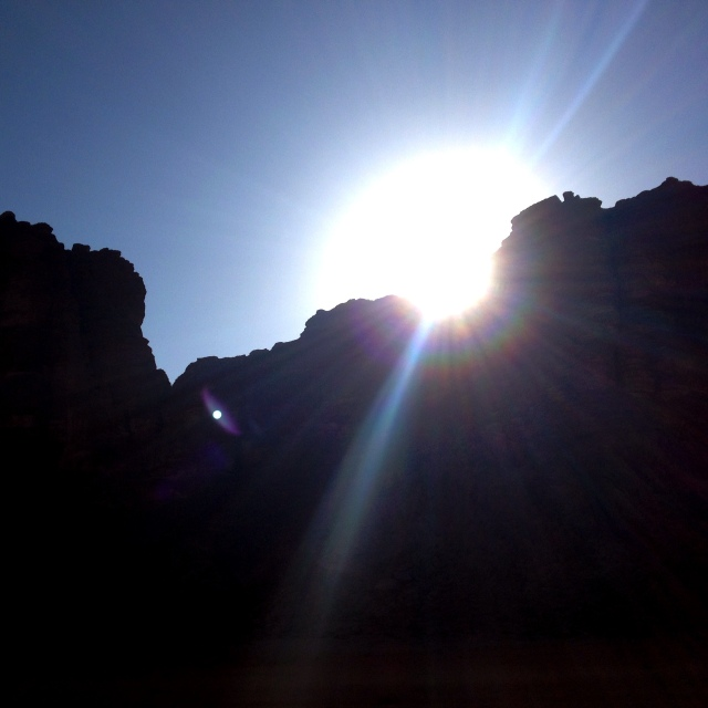 sunrise in wadi rum.