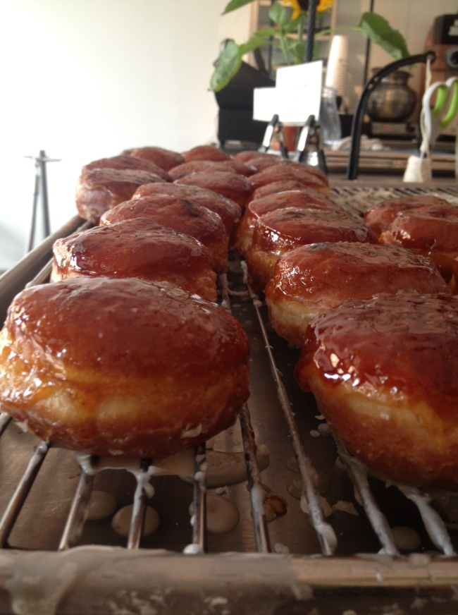 the creative and delicious crème brule doughnuts from 'the doughnut plant'.