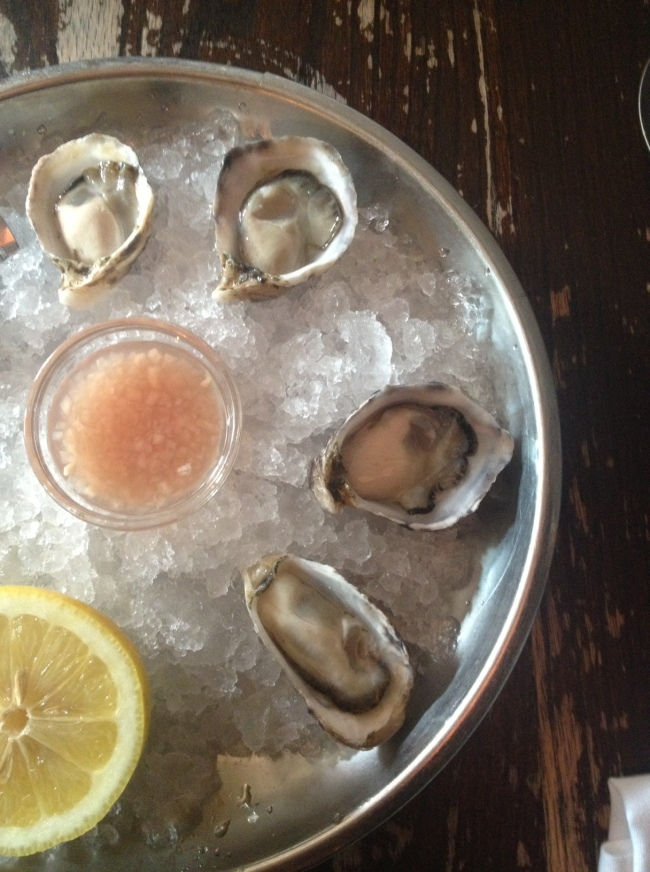 mouthwatering oysters from 'the spotted pig'.