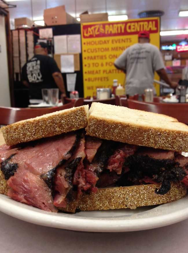 the world's best pastrami sandwich from katz' deli.